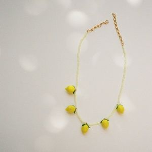 NINFA HANDMADE Glass Lemon Necklace